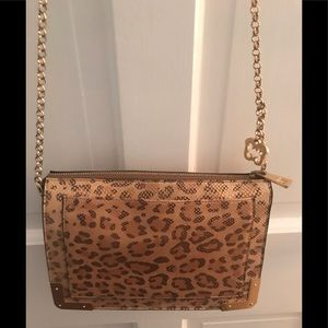 Eric Javits crossbody bag, leopard print leather